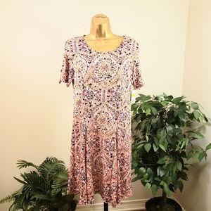 KIM ROGERS Petite flower assign dress